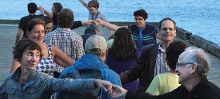 Contra dance on the Halifax boardwalk by Stu Ducklow